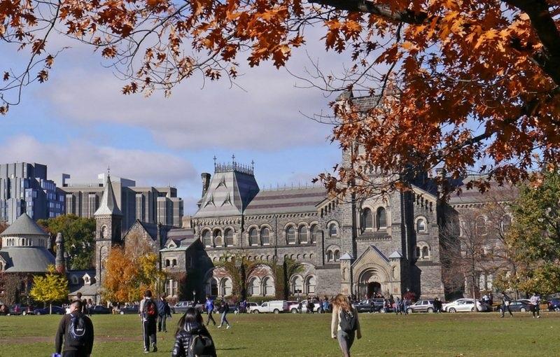 Một góc trường đại học Canada